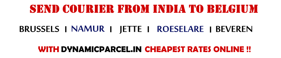 Courier to Belgium from India