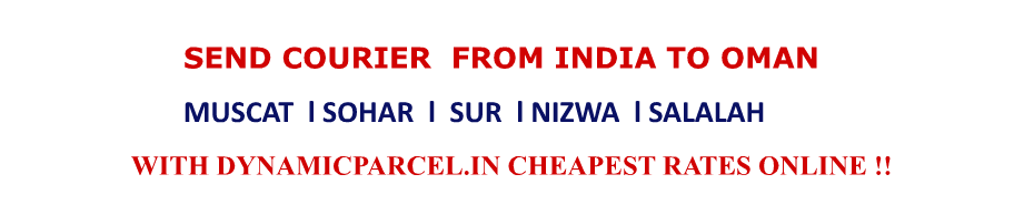 Courier to Oman from India