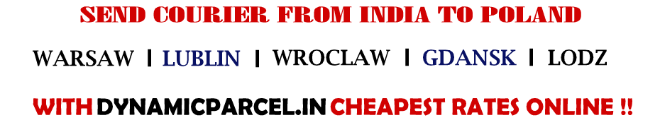 Courier to Poland from India