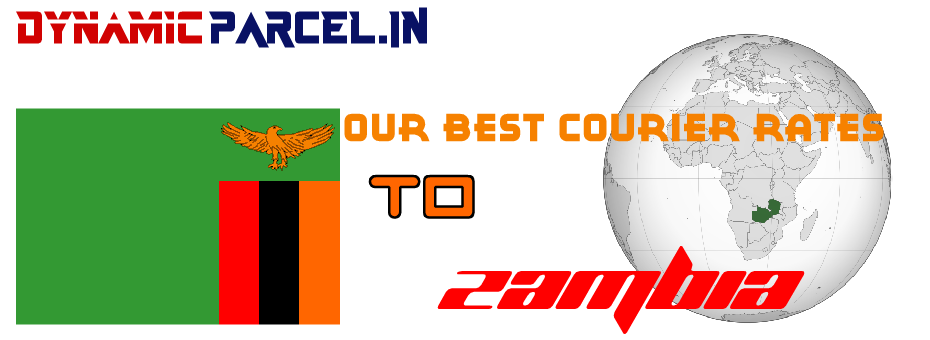 Courier to Zambia from India