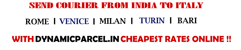 Courier to Italy from India