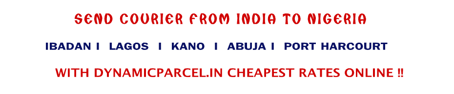 Courier to Nigeria from Bangalore