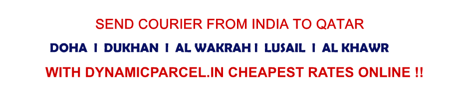 courier to Qatar from Delhi India