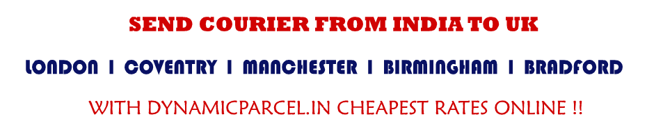 Courier to UK from Ahmedabad