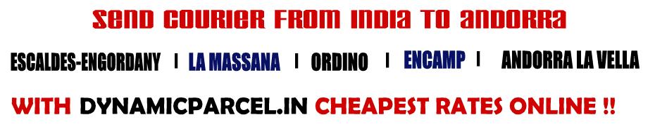 Courier to Andorra from Mumbai India