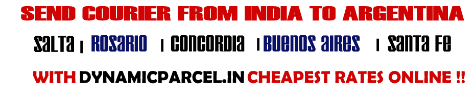 Courier to Argentina from India