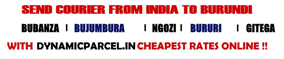 Courier to Burundi From Mumbai India