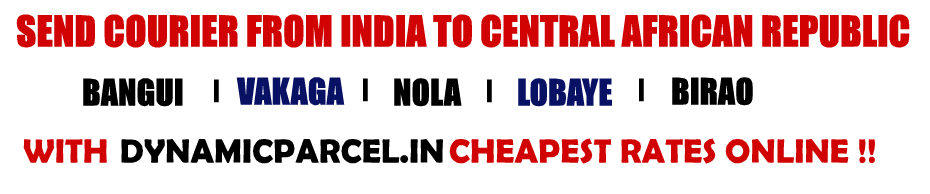 Courier to Central African Republic from Mumbai India