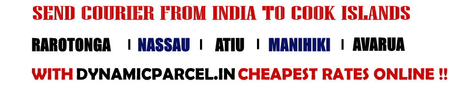 Courier to Cook Islands from Mumbai India