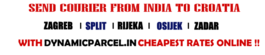 Courier to Croatia from Mumbai India