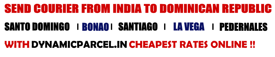 Courier to Dominican Republic from Mumbai India