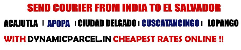 Courier to El Salvador from Mumbai India