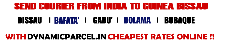 Courier to Guinea Bissau from Mumbai India