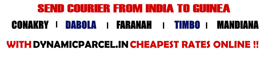 Courier to Guinea from Mumbai India
