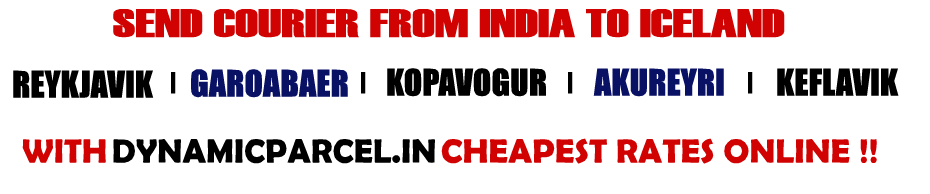 Courier to Iceland from Mumbai India