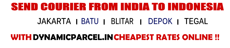 Courier to Indonesia from India