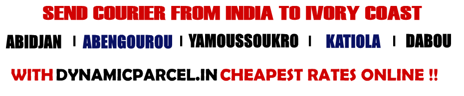 Courier to Ivory Coast from Mumbai India