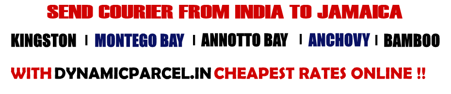Courier to Jamaica from Mumbai India