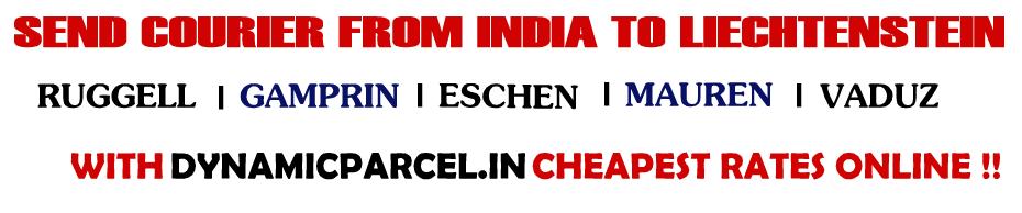 Courier to Liechtenstein from India