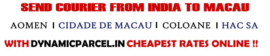 Courier to Macau from Mumbai India