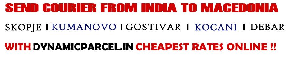 Courier to Macedonia from Mumbai India
