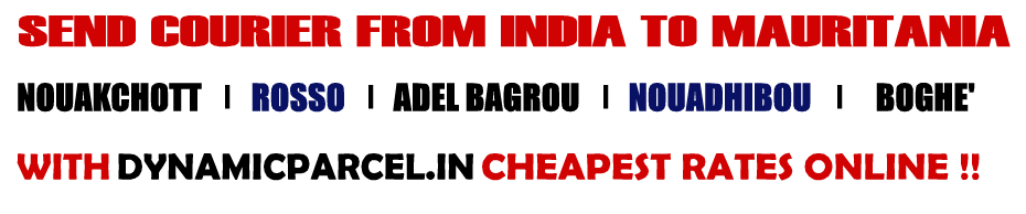 Courier To Mauritania From Mumbai India Courier Charges