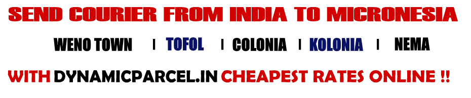 Courier to Micronesia from Mumbai India