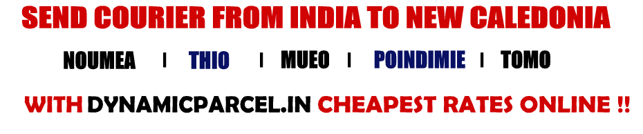 Courier to New Caledonia from Mumbai India