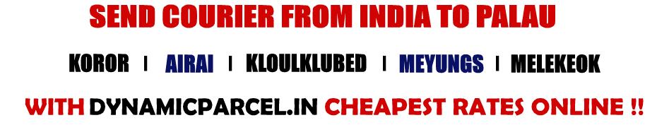 Courier to Palau from Mumbai India