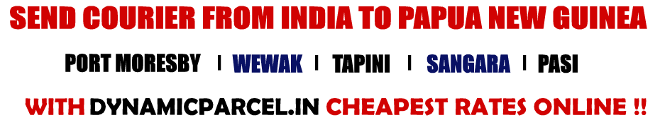 Courier to Papua New Guinea from Mumbai India