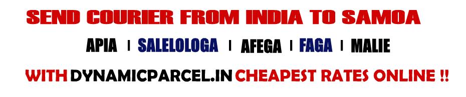Courier to Samoa from Mumbai India