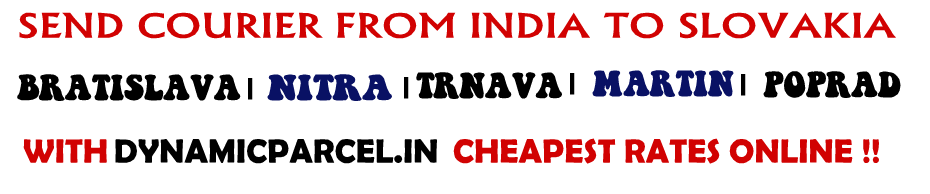 Courier to Slovakia from India