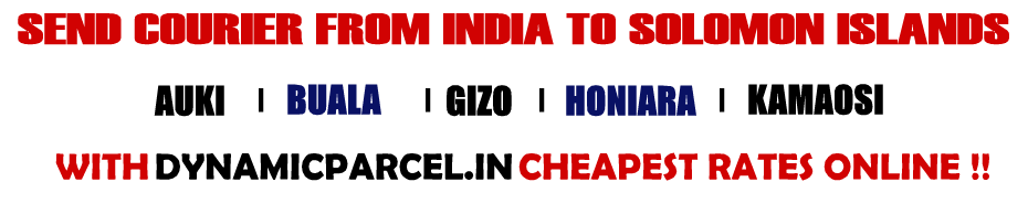 Courier to Solomon Islands from Mumbai India