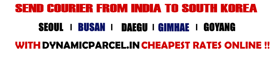 Courier to South Korea from Mumbai India