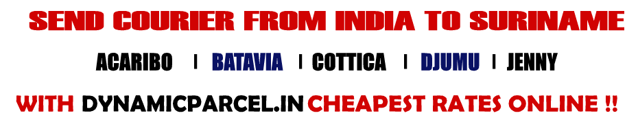 Courier to Suriname from   Mumbai India