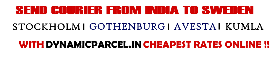 Courier to Sweden from Mumbai India