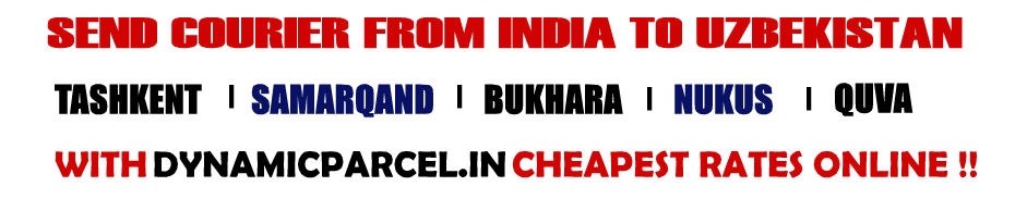 Courier to Uzbekistan from Mumbai India